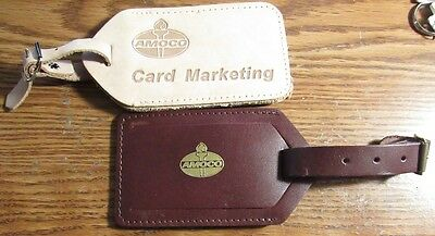 Lot of 2 different AMOCO Luggage Tags - Gas Fuel Oil