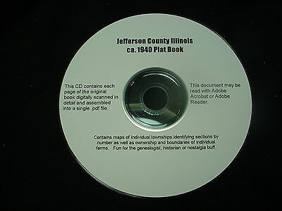 CD ~ ca.1940 Jefferson County Illinois Hixson Plat Map Atlas  & Oil Exploration