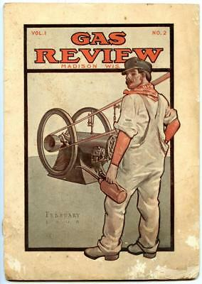 GAS REVIEW MAGAZINE Volume 1 Number 2 February 1908 Hit and Miss Engines