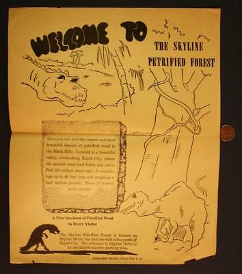 1950-60s Era Black Hills Rapid City,South Dakota Petrified Forest Dinosaur Flyer