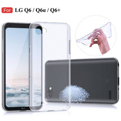 Lot Silicone TPU Back Skin Case Soft Clear Protective Cover For LG Q6/Q6a/Q6Plus