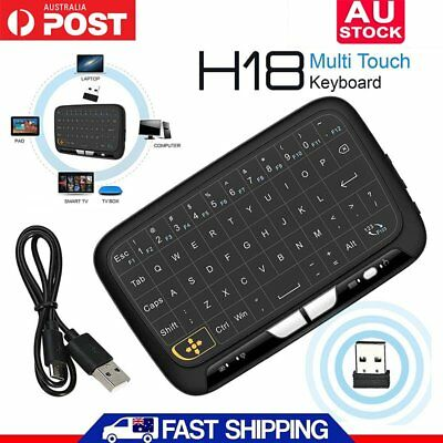 H18 Mini Wireless QWERTY Keyboard 2.4G Portable Keyboard Full Touchpad Air Mouse