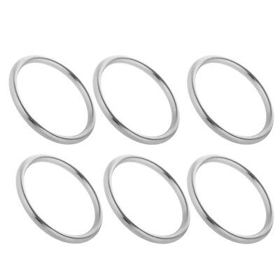 6x Polished Stainless Steel Metal O Ring Circular Ring Boat Hardware 3x25mm