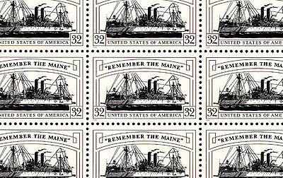 1998 - REMEMBER THE MAINE - #3192 Full Mint -MNH- Sheet of 20 Postage Stamps