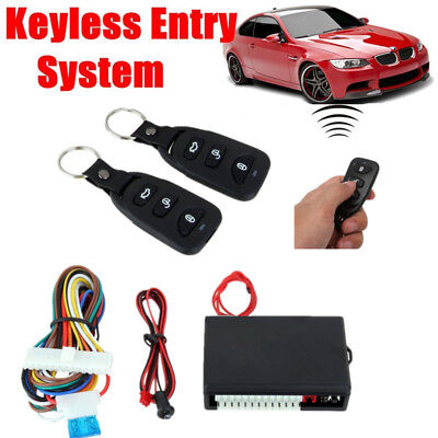 Auto Electronic Remote Key Control Central Door Locking Keyless Entry System Kit