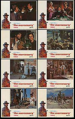 THE MERCENARY orig lobby card set FRANCO NERO/JACK PALANCE 11x14 movie posters