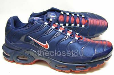 new style ba640 1d1a8 NIKE AIR MAX Plus Tn Tuned Navy Blue Red PSG Mens Trainers AO9565 400
