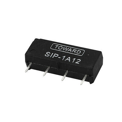 DC 12V Ouvert Style 4 Broches SIP1A12 4 broches Dry Roseau Relay Noir