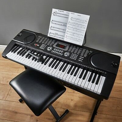 Zennox Electric Keyboard Digital Music Piano 61 Keys Instrument & Microphone NEW