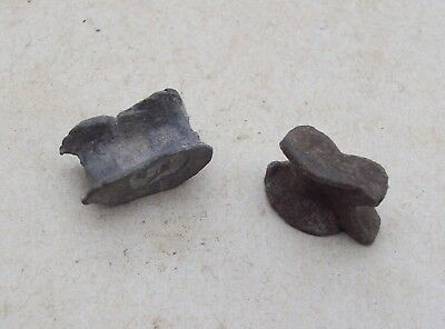Lot of 2 Astralagus Nuckle Bone Gaming Pieces 1600's 1700's Detecting Finds