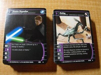 Star Wars Tcg Attack Of The Clones Complete Master Set Of 180 Cards