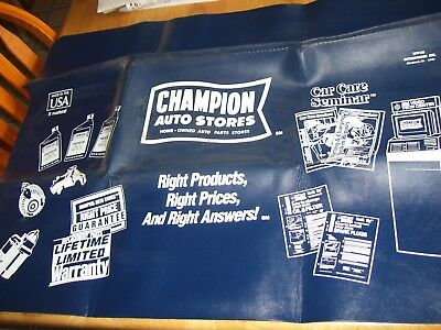 Vintage Champion Auto Stores Car Fender Protector Mat