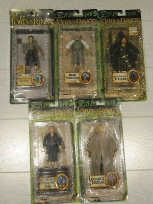 """ToyBiz Lord of the Rings LOTR Fellowship Ring FOTR 6"""" Action Figures Toys NEW"""