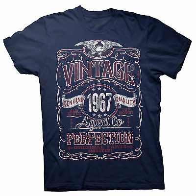 Vintage Aged Perfection 1967 - Distressed Print - 51st Birthday Gift T-shirt -