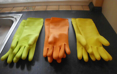 Gummihandschuhe div. Farben Länge ca. 35-36 cm / rubber gloves different colors