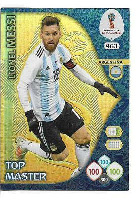 panini world cup 2018 adrenalyn xl top master messi card mint picclick uk