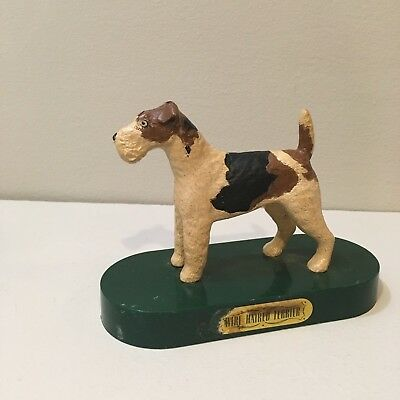 Vintage Plastic Bachmann Model Dog Wire Hair Fox Terrier