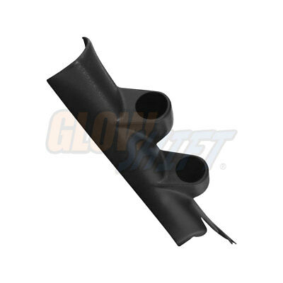 GlowShift Black Full Size Dual Gauge 52mm Pillar Pod for 10-15 Chevy Camaro Gen5