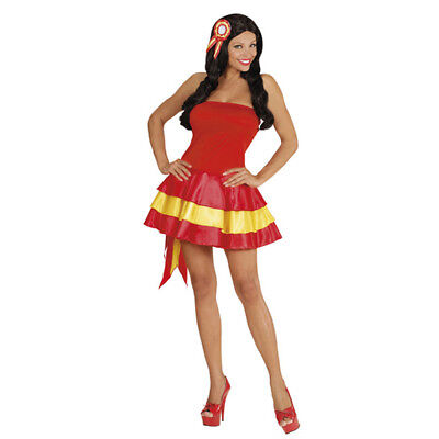 Womens Ladies Spain Spanish Fancy Dress Costume Pageant Girl Outfit