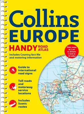 COLLINS EUROPE HANDY ROAD ATLAS A5 SPIRA, Collins Maps, 978000821...
