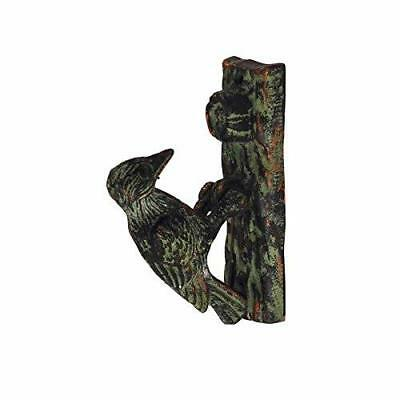 Cast Iron Woodpecker Door Knocker Rustic Vintage Home Decor Outdoor Garden