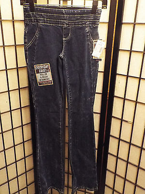 Women's Amethyst Jeans Low Rise Pull On & Relax Dark Wash Size 0, 3, or 5 NWT