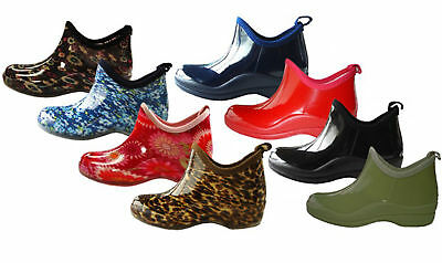 Shoes 18 Womens Rain Boots Rubber Short Ankle  Pull On Garden,Size 5-10