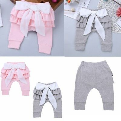 Baby Infant Girls Birthday Party Bowknot Floral Trousers Leggings Pants Tights