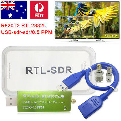 2017 NEW Premium USB RTL-SDR 0.5PPM TCXO Metal Case SMA R820T2 RTL2832U for TV A