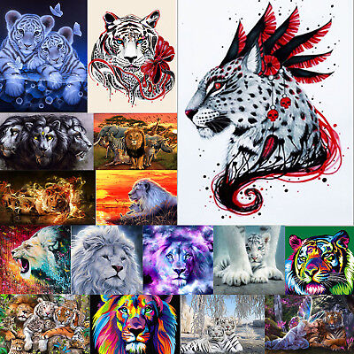 5D DIY Tiger Lion Diamond Painting Embroidery Cross Stitch Handicrafts Handwork