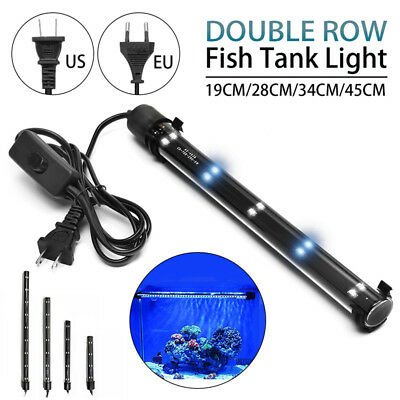 Aquarium Fish Tank LED Light Submersible Waterproof Bar Strip Lamp EU/US Plug