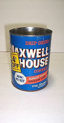 Vintage Maxwell House Drip Grind Coffee Can 1960's