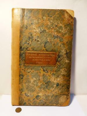1841 BEDALE Assc Protection Property & Prevention of Crime Police MINUTE BOOK