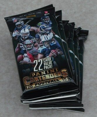 Panini Contenders 2015 Nfl Trading Cards Lot Of 7 Jumbo Packs New & Sealed