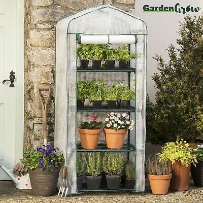 Portable 4 Tier Mini Greenhouse Waterproof Plant Outdoor Grow House Garden Grow