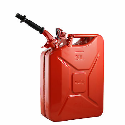 Wavian 3009 5.3 Gallon 20 Liter Authentic CARB Fuel Jerry Can with Spout, Red