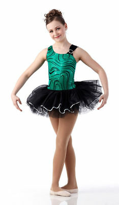 New Green Metallic Ballet Tutu Dance Costume Adult Large