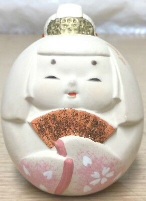 Japanese Japan Asian Geisha Girl Pottery Clay Ceramic Bell Vintage Beautiful
