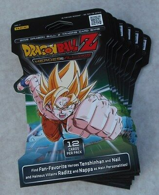 Panini Dragonball Z Heroes & Villains Lot Of 20 Booster Packs New & Sealed