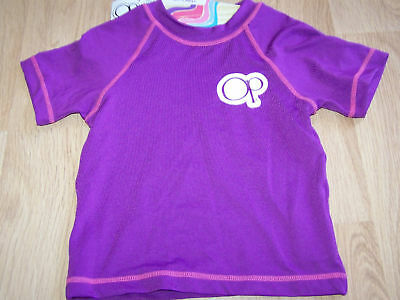 Toddler Girl's Size Small - Med 20-33 lbs OP Swim Surf Rash Guard Top New