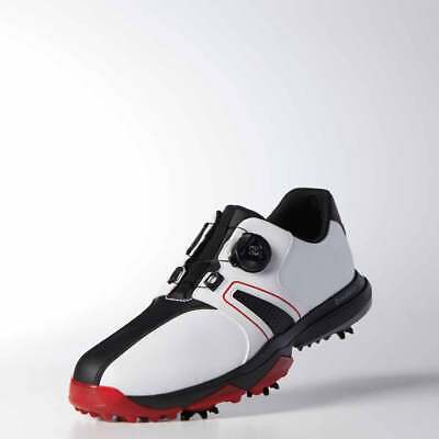 49a88d1fe1897 ADIDAS MENS 360 Traxion BOA Golf Shoes Q44951-White Black Scarlet-New -   99.99