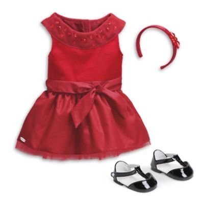 American Girl Truly me Joyful Jewels Outfit for Dolls Red Dress
