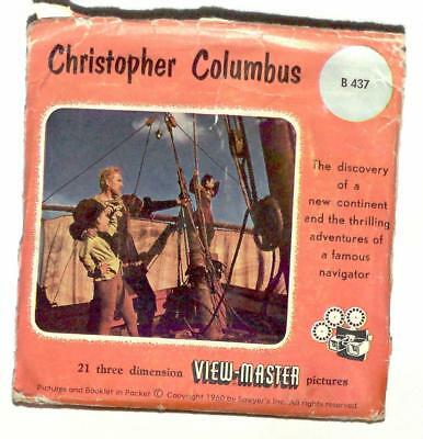 FOREIGN vintage SAWYERS view master CHRISTOPHER COLUMBUS made in BELGIUM reels !
