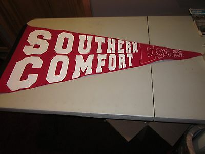 """Southern Comfort Banner/Flag EST 1874 RED AND WHITE 24"""" BY 48"""" FELT"""