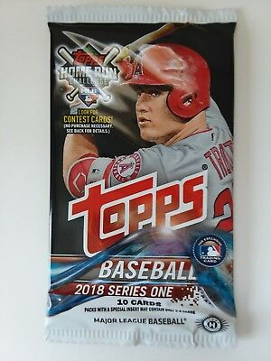 2018 Topps Series 1 10 Card Pack MLB Autographs and Relics Available * Trout