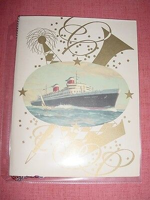 SS UNITED STATES LINES  1952 Gala Dinner Menu 1952  /  Top Condition