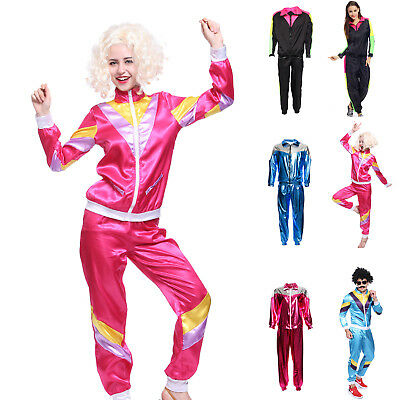 80s 80's Mens Womens Shell Suit Scouse Tracksuit Costume Scouser Fancy Suit