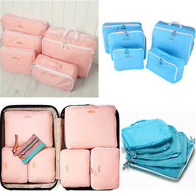 5Pcs Travel Storage Waterproof Clothes Packing Cube Luggage Organizer Bags Set
