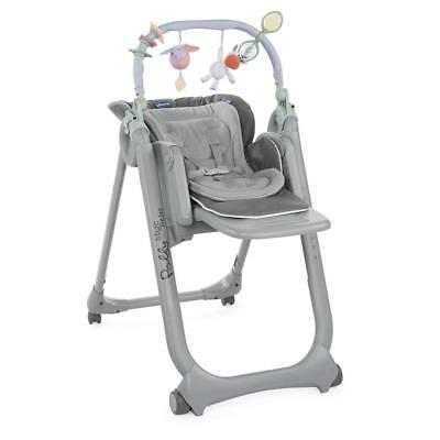 Chicco Polly Magic Relax Highchair 4Wheel (Anthracite) - RRP £139