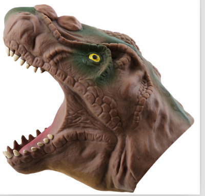 Realistic Tyrannosaurus Dinosaur Soft Hand Puppet Interactive Toy Kids Gift Calm